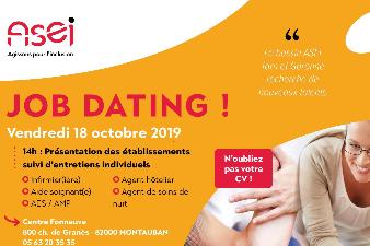 Job Dating, vendredi 18 octobre 2019 au Centre Fonneuve à Montauban (82000) dès 14h