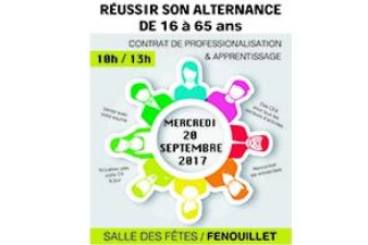 FORUM DE L'ALTERNANCE le 20 septembre 2017 de 10h00 à 13h00 - Salle des fêtes de FENOUILLET