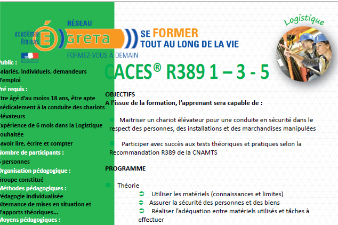 Amiens : Formation CACES