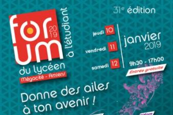 2019 - 31 ème édition du Forum du Lycéen à l'étudiant du 10 au 12 janvier 2019
