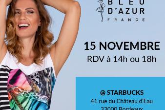 Vente à domicile : la marque de mode BLEU D'AZUR recrute à Bordeaux !