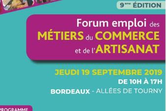 9e Forum emploi des métiers du commerce et de l'artisanat