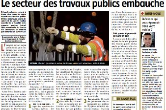 Le secteur des travaux publics recrute !