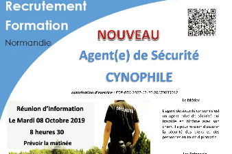 RECRUTEMENT FORMATION AGENT CYNOPHILE - AFPA ROUEN