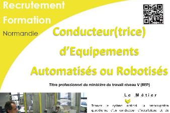 Formation APFA - CONDUCTEUR D'EQUIPEMENTS AUTOMATISES OU ROBOTISES