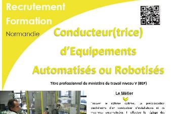 AFPA : réunion d'information  CONDUCTEUR D'EQUIPEMENTS AUTOMATISES OU ROBOTISES