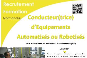 CONDUCTEUR D'EQUIPEMENTS AUTOMATISES ou ROBOTISES