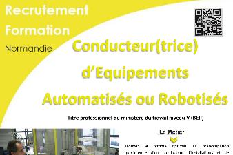 CONDUCTEUR D'EQUIPEMENTS AUTOMATISES OU ROBOTISES - AFPA