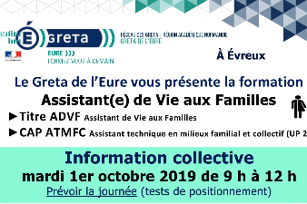 PRESENTATION DE LA FORMATION ASSISTANT DE VIE AUX FAMILLES