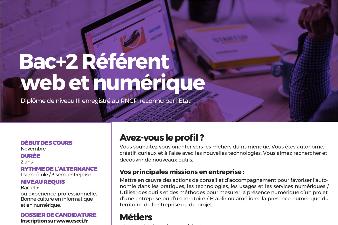 BAC+2 REFERENT WEB ET NUMERIQUE ESCCI