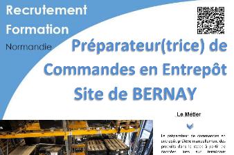 FORMATION AFPA - PREPARATEUR DE COMMANDES EN ENTREPOT (site de Bernay)