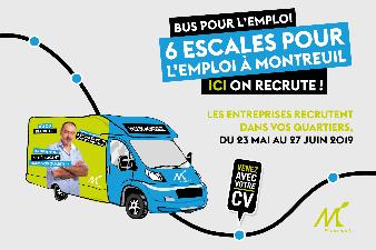 Le Bus de l'emploi 2019 à Montreuil : les 6 escales