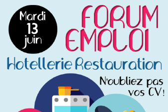 Forum emploi Hôtellerie Restauration le 13 Juin à Nancy