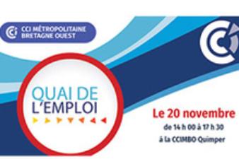 Quai de l'emploi: le 20 novembre à la CCI de Quimper