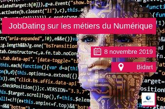 Jobdating  Métiers du Numérique - 8 nov - Bidart (64)