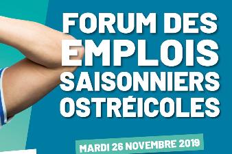 Forum des emplois saisonniers ostréicoles - 26 nov - La Tremblade (17)