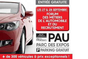 Forum des Métiers et de l'Emploi automobile - 27 et 28 sept. - Pau