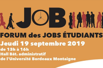 Forum Jobs étudiants - 19 sept. - Bordeaux