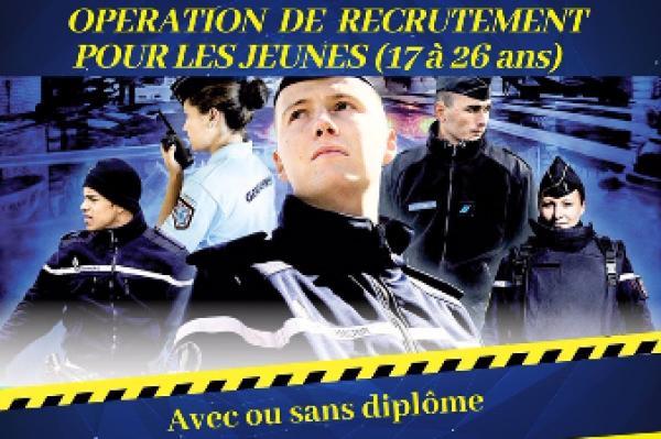 La Gendarmerie recrute 7000 gendarmes adjoints en 2019/20