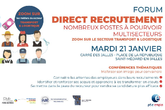 Forum Direct Recrutement - 21 janv - Saint-Médard-en-Jalles (33)