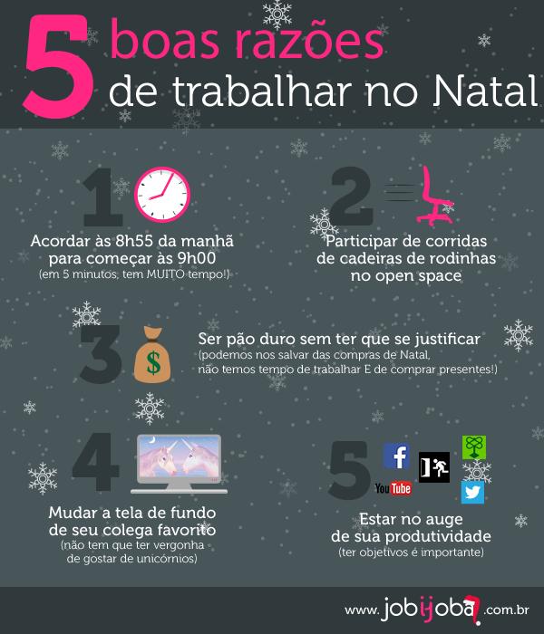 Infografia trabalhar no período de Natal