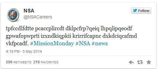 Tweet de la NSA