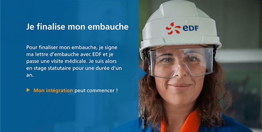 Recrutement EDF processus embauche