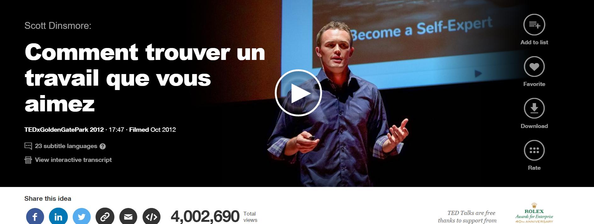 TedX Scott Dinsmore