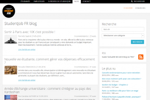 Screenshot StudentJob le blog