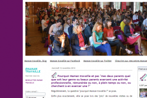 page d'accueil blog Maman Travaille