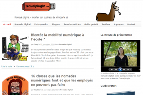 page d'accueil blog Travelplugin