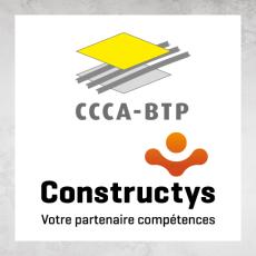 Logos du CCCA-BTP et de Constructys