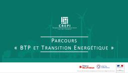 Découvrez le parcours « BTP et Transition énergétique »