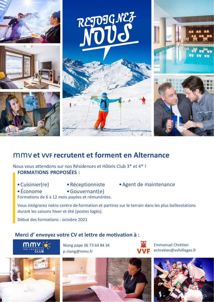 leaflet avec photos de sports d'hiver