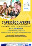 Café Découverte le jeudi 1er juillet 2021 à partir de 9h jusqu'à 12h