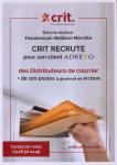 Crit recrute des distributeurs de courrier en intérim