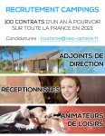 Recrutement Campings