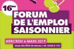 16 ÈME ÉDITION DU FORUM DE L'EMPLOI SAISONNIER