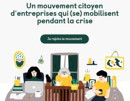 Un mouvement citoyen d'entreprises qui se mobilisent pendant la crise