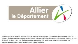 Plan de relance, le Département de l'Allier poursuit son engagement pour l'emploi