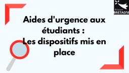Aides d'urgence aux étudiants