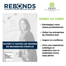 REBONDS, une action du CREPI Finistère ouverte à toutes les femmes en recherche d'emploi