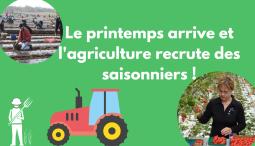 Le printemps arrive : l'agriculture recrute !