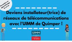 Première promotion d'installateur(trice) de réseaux de télécommunications pour l'UIMM !
