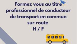 Une formation au titre professionnel de conducteur de transport en commun sur route H / F