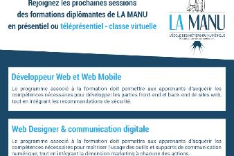 Nouvelles sessions de formation aux métiers du numérique avec la MANU