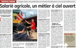 Salarié agricole, un métier à ciel ouvert !