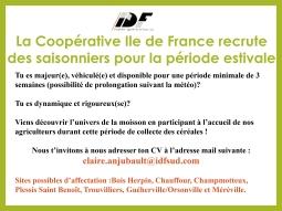 La coopérative Ile de France recrute ses saisonniers 2021