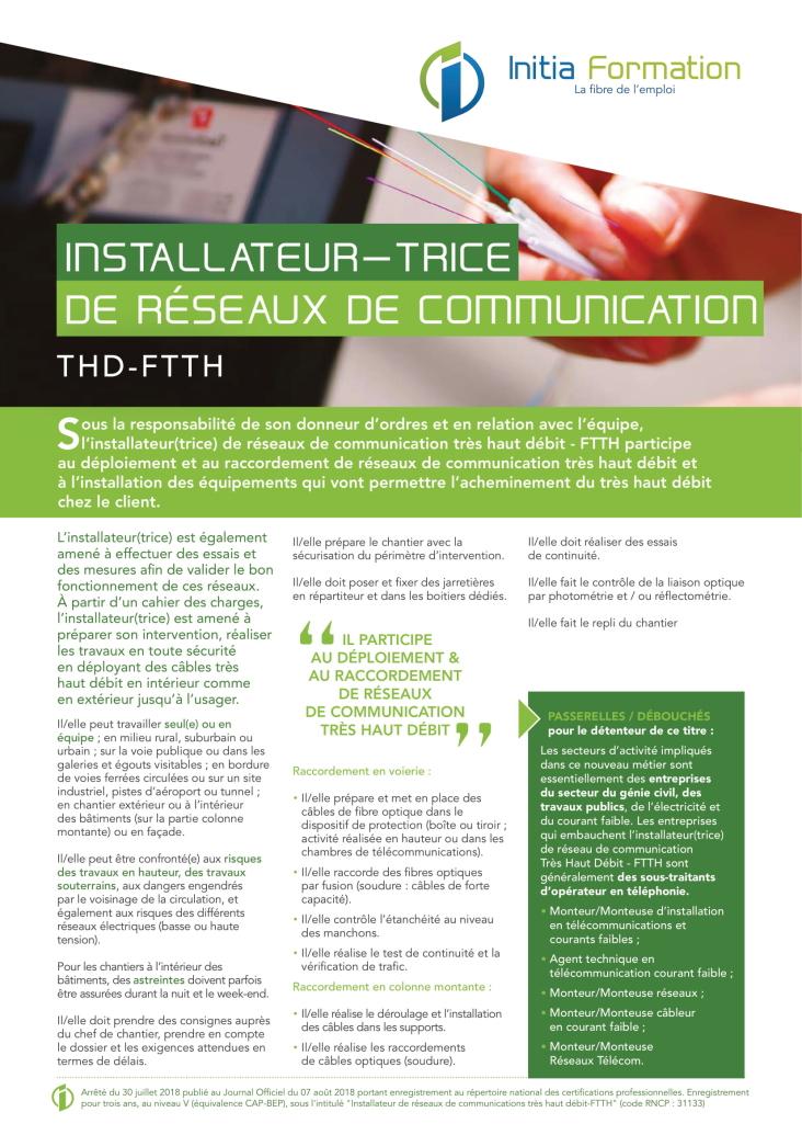 INSTALLATEUR RESEAUX DE COMMUNICATION
