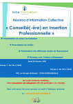 INITIA FORMATION : Réunion d'information collective (Groupe 1 : 13H00 / Groupe 2 : 15H00)